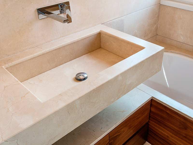 Great lavabo bagno di crema marfil with bagno di marmo - Lavabo bagno marmo prezzi ...