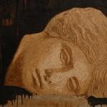 Mosaico marmo e acrilico su tavola cm 90x70