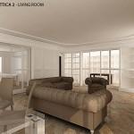Progetto living pavimento in marmo 02