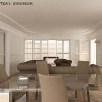 Progetto living pavimento in marmo 03