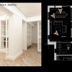 Progetto living pavimento in marmo 04