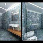 Rendering rivestimento marmo fantasia