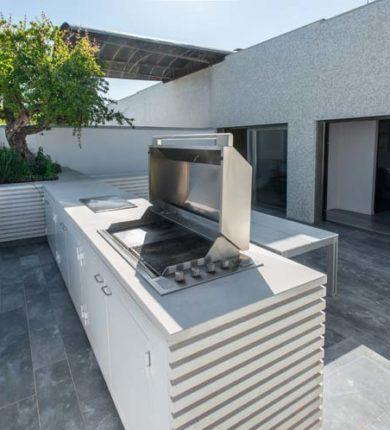 Terrazzo Marmo e Barbecue Roma